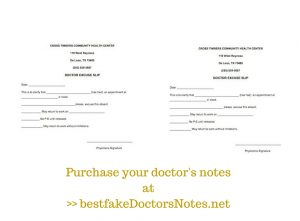 great notes from doctors